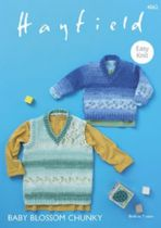 Hayfield Baby Blossom Chunky - 4862 Sweater & Tank Knitting Pattern
